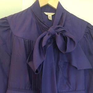 Ted Baker purple silk tunic dress, TB2